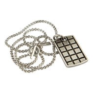 Stainless Raised Checker Dogtag, , jrcigars