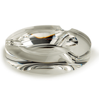 Crystal 3-Cigar Circular Ashtray, , jrcigars