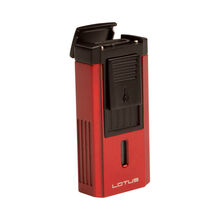 Duke Red & Black Lighter With Serrated V-Cut, , jrcigars