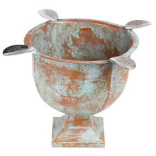 Copper Patina 4 Stirrup Box Pressed Stinky Ashtray, , jrcigars