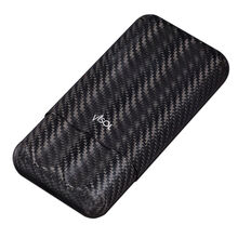 Night Carbon Fiber 3 Finger Cigar Case, , jrcigars