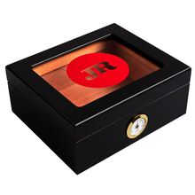 JR Glass-Top Wood Humidor With Hygrometer, , jrcigars