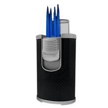 DT-101 Black Carbon Fiber Quad Flame Lighter, , jrcigars