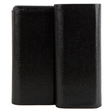 3-Churchill Sharkskin Black Case, , jrcigars
