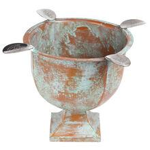 Copper Patina 4 Stirrup Box Pressed Stinky Ashtray, , jrcigars