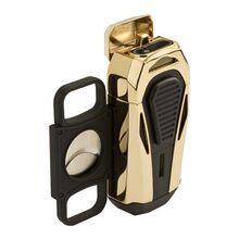 Boss Polished Gold Triple Jet Lighter, , jrcigars