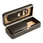 Black 3 Cigar Case with Cutter, , jrcigars