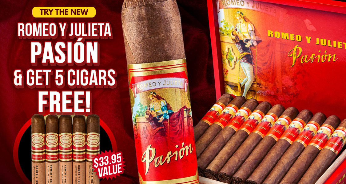 Free 5-Pack With New Romeo Pasion