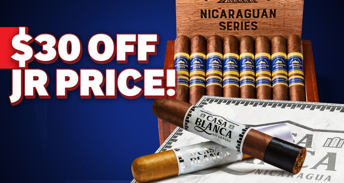 $30 Off Cigar Boxes