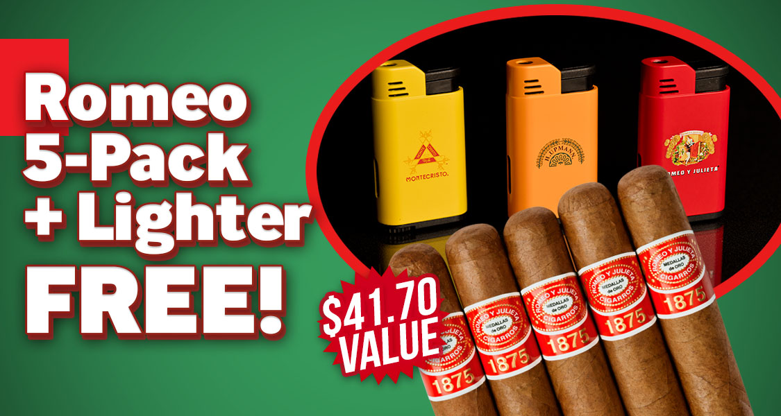 5-Pack + Lighter Free