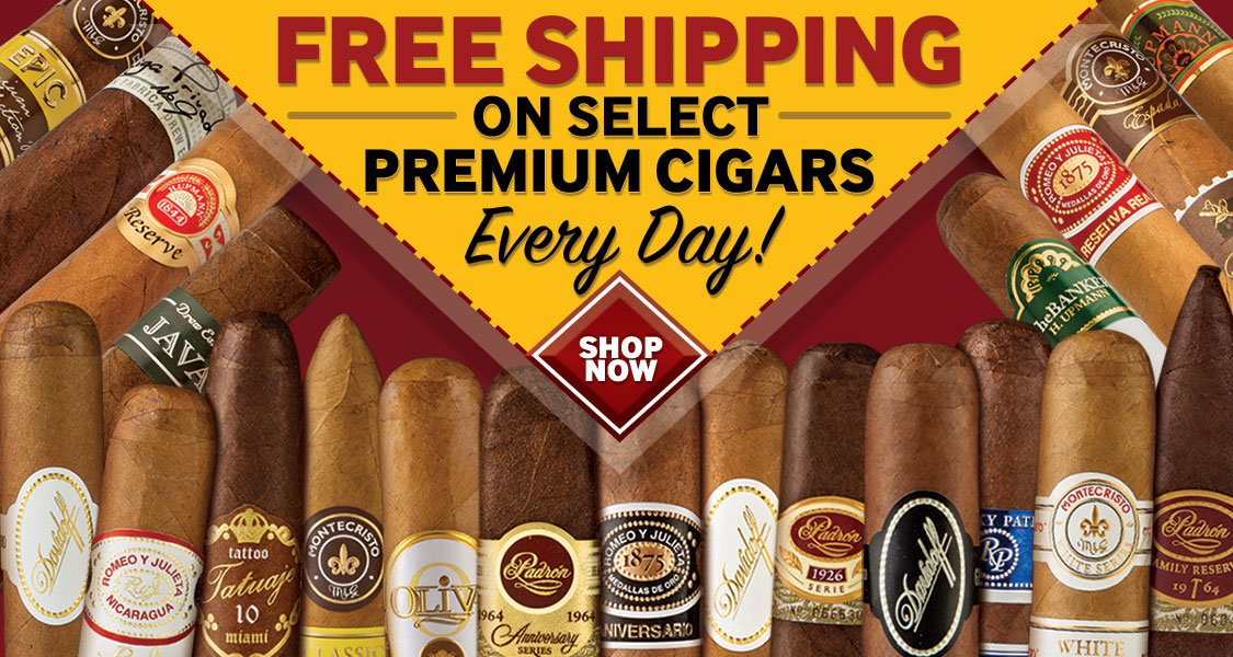Free Shipping on Select Premium Cigars | JR Cigars