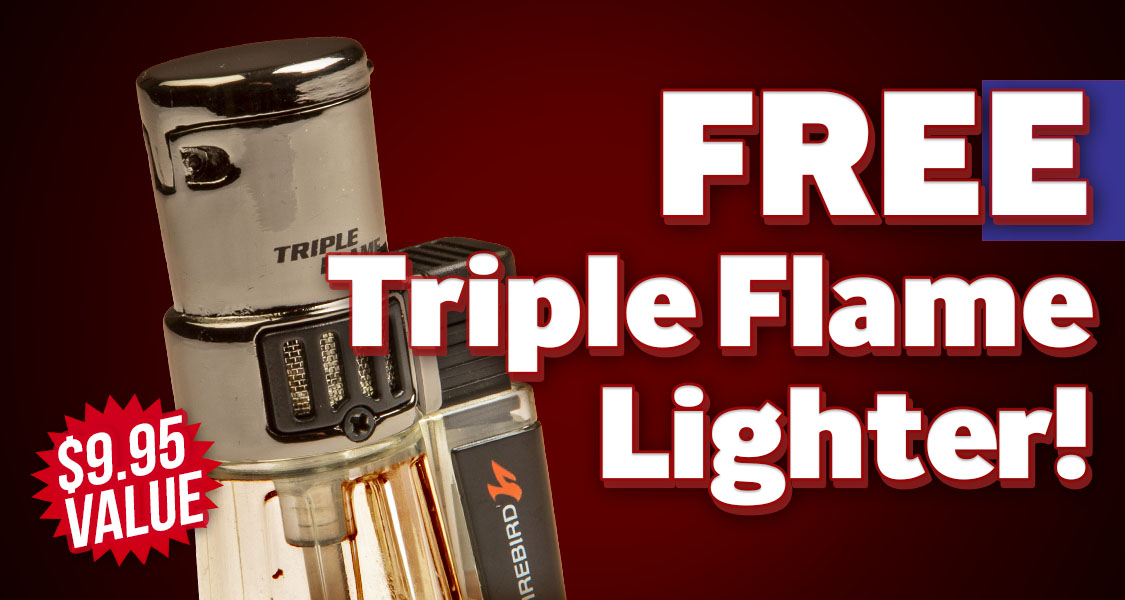 Free Triple Flame Lighter