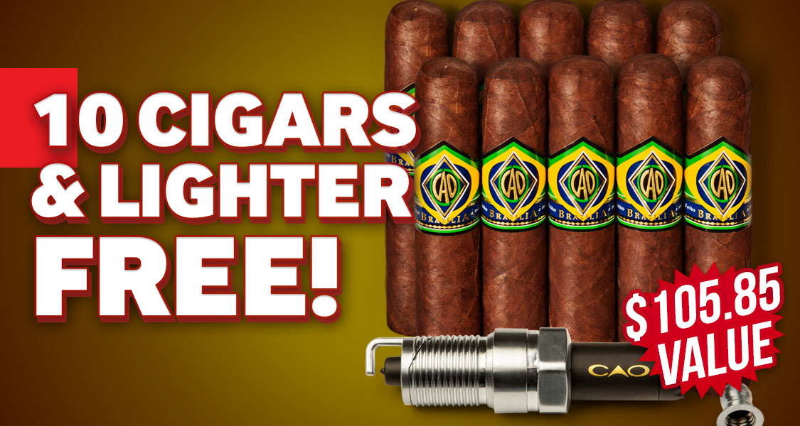 10 CAO Cigars & Sparkplug Lighter Free