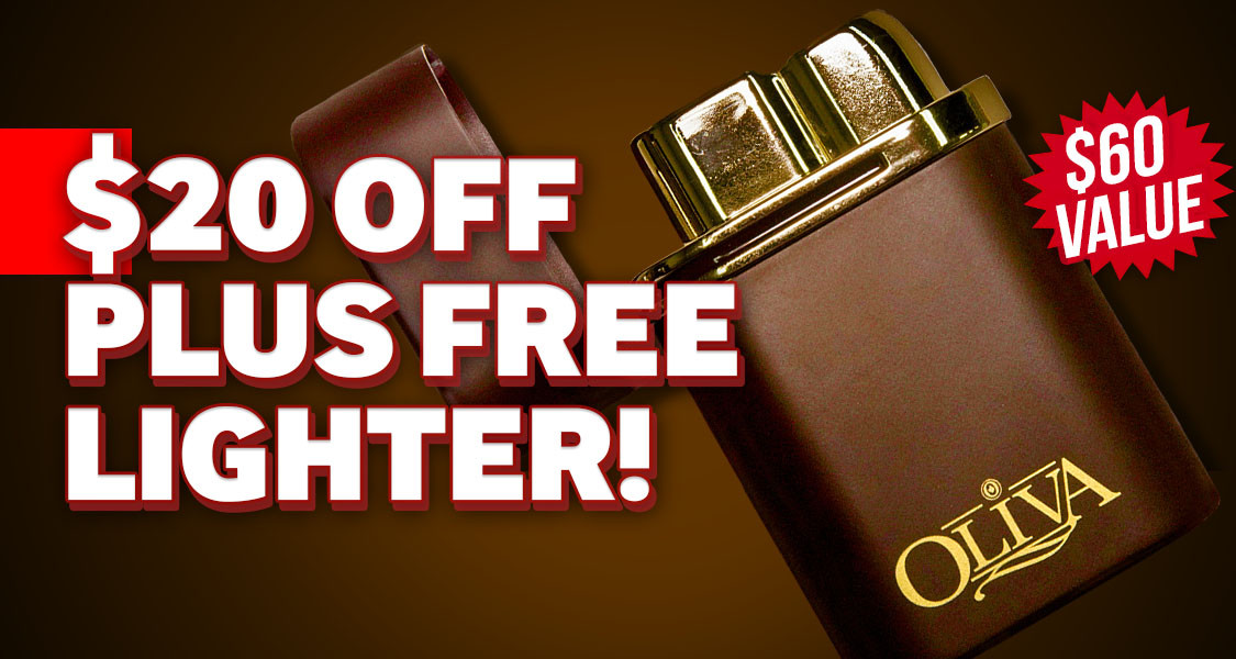 $20 Off Oliva + Free Lighter