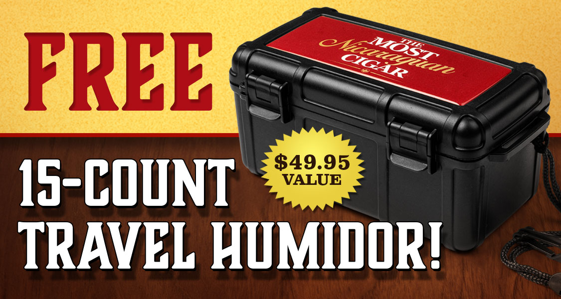Free 15-Count Travel Humidor